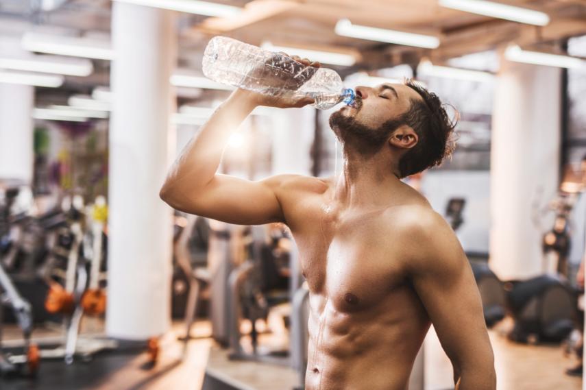 agua y músculos
