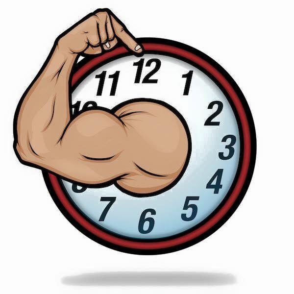 hora para entrenar en el gym